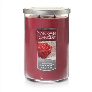 2/$45 Yankee Candle Cranberry Chutney Large Tumblr